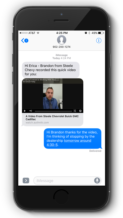 SMS Video Email Reply 2