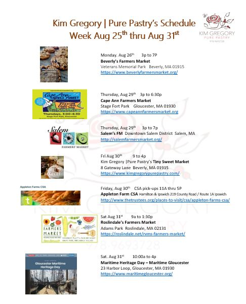 This week Aug 25 -31st at KGPP