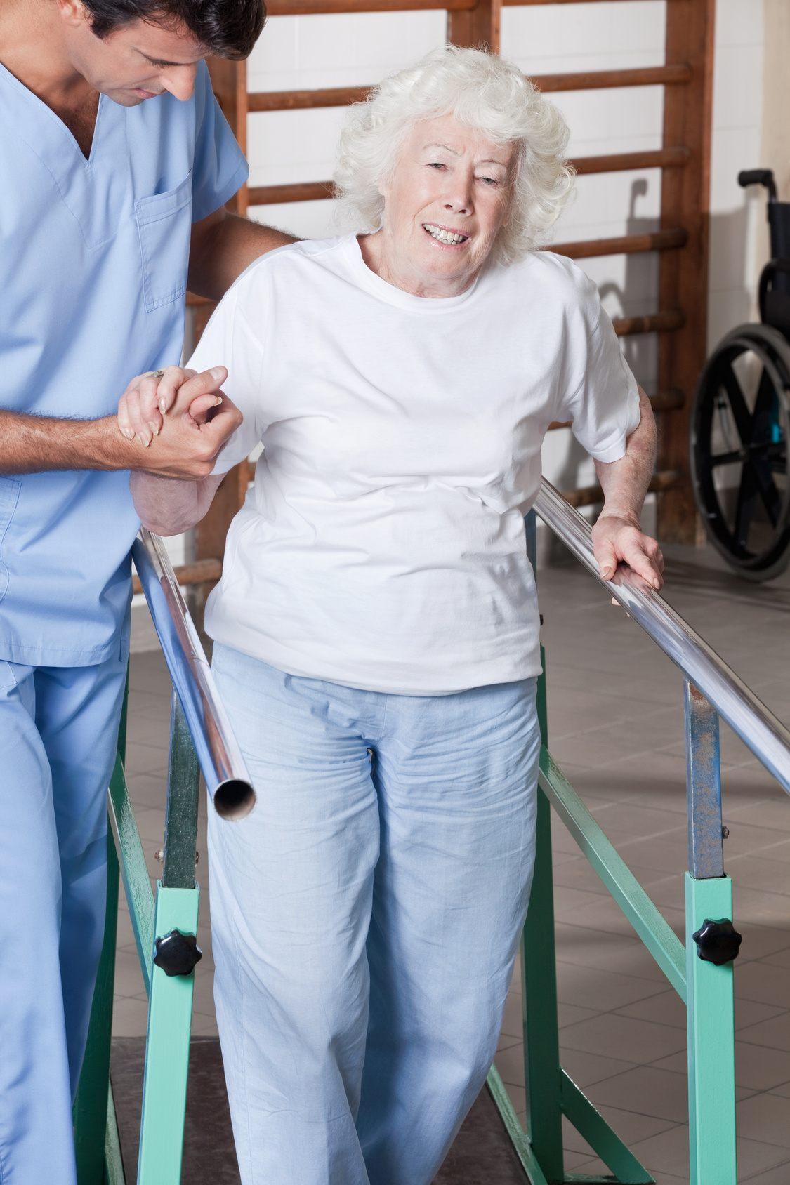 Fall Risk Gait Training PT for seniors