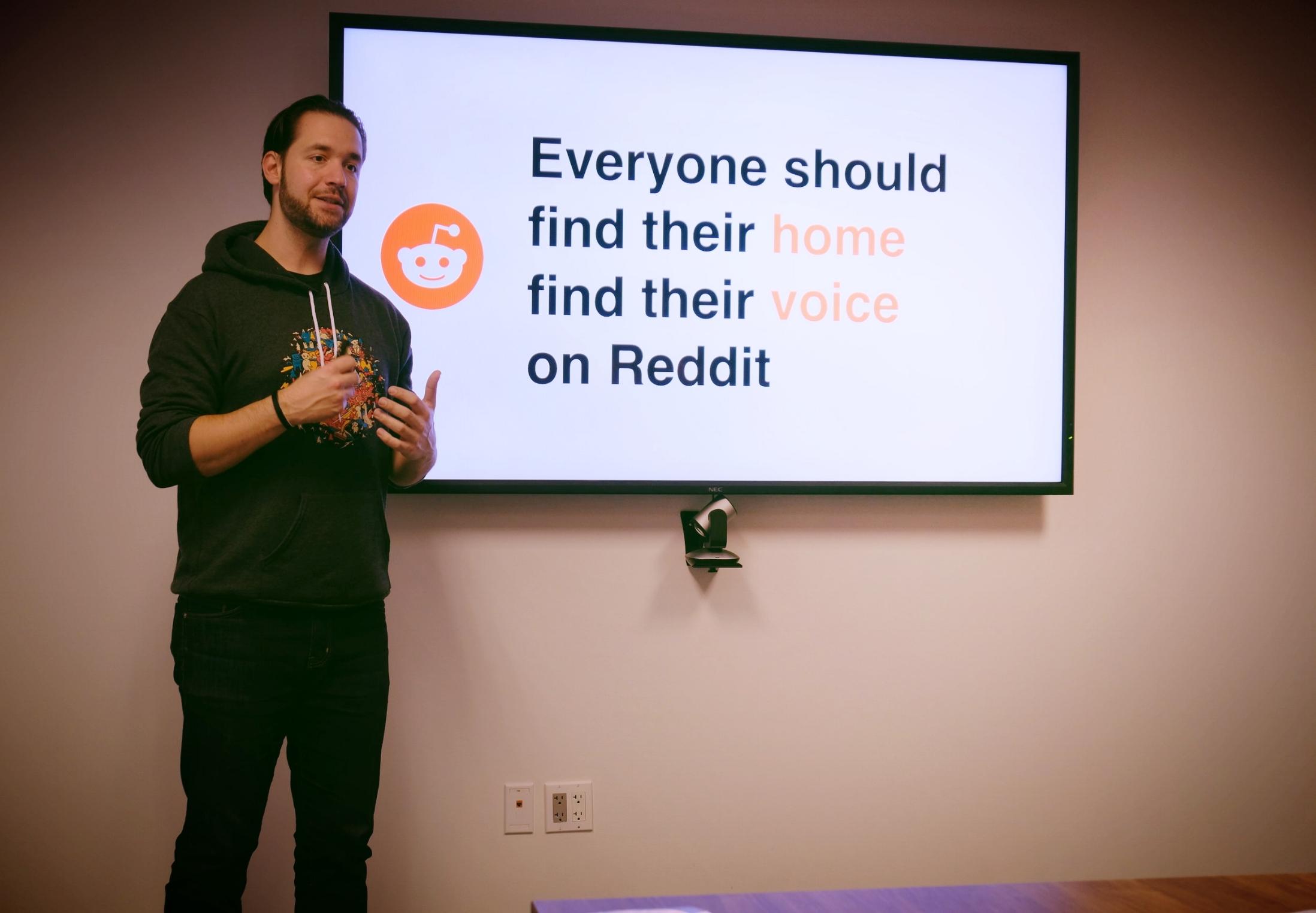 Alexis Ohanian, Co-Founder, Reddit, at Reddit HQ San Francisco