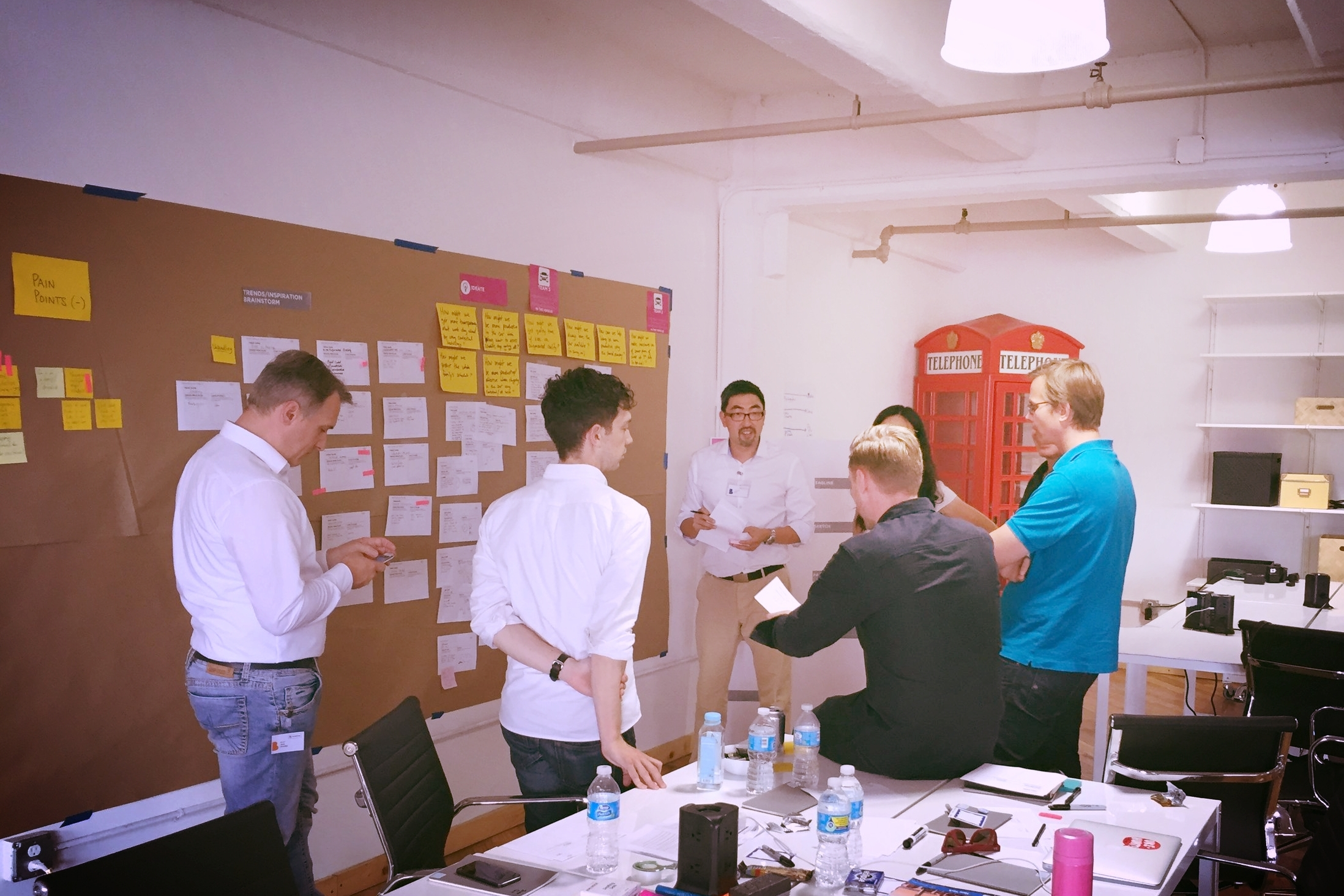 Design Thinking workshop with our partner The Design Gym and participants in New York