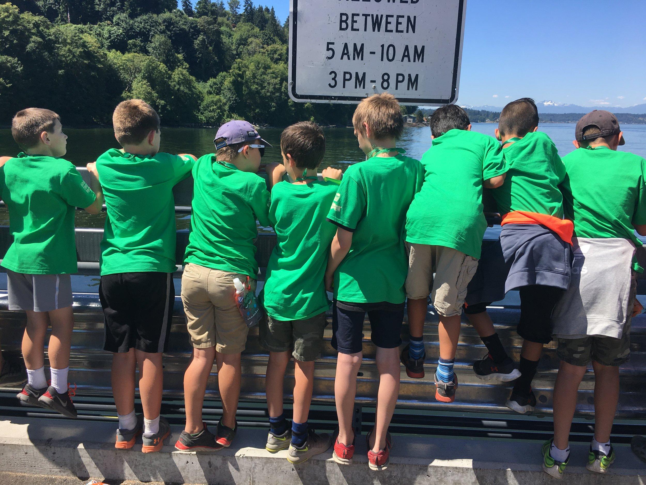 Cabin 4 boys on Boata dock.JPG