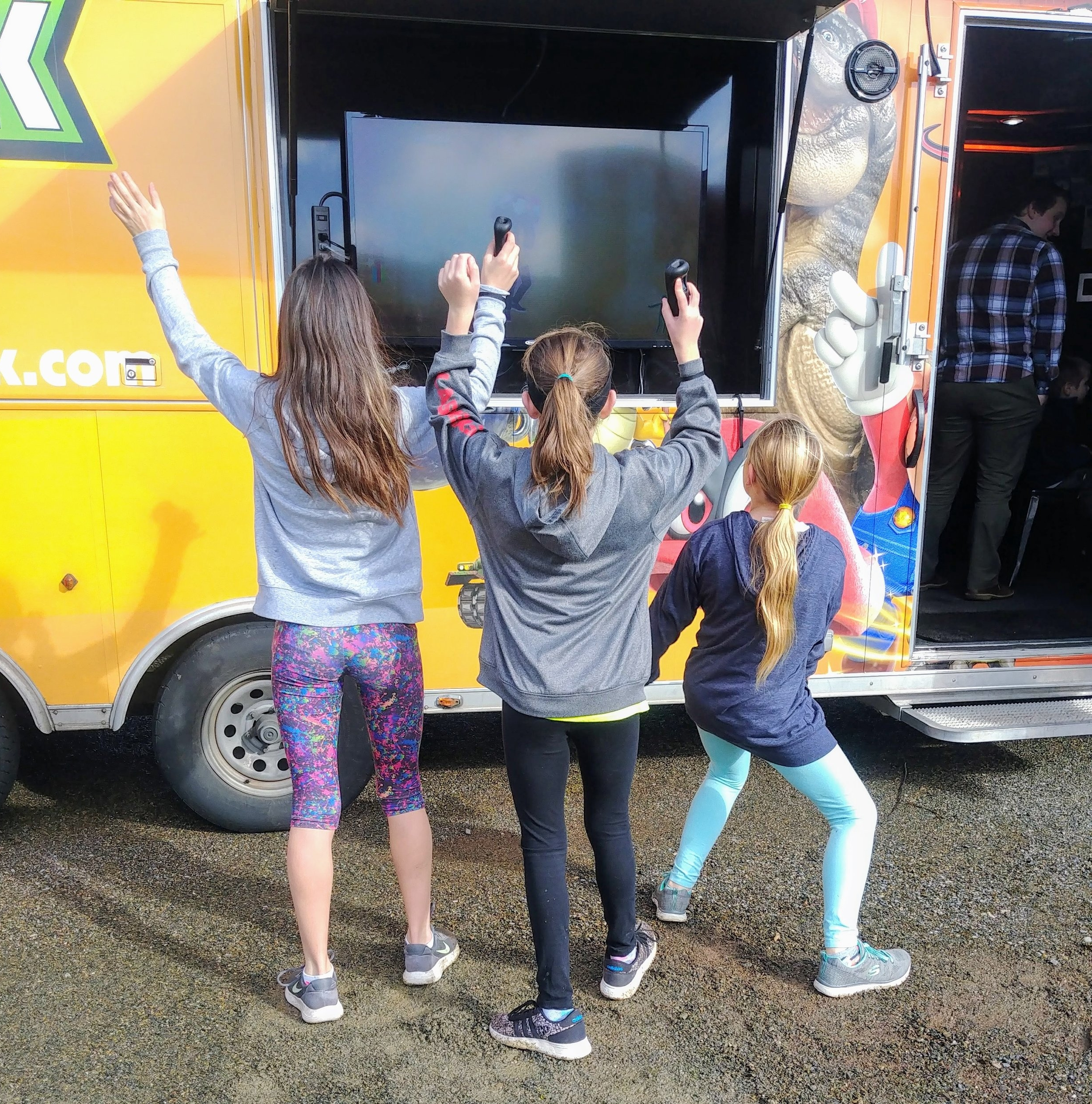Enjoy video games both in and outside the GameTruck!