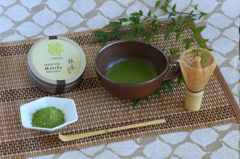 What is Matcha? - Matcha is a nutrient-rich green tea powder that is high in antioxidants and has a rich, creamy flavor. SHUHARI Matcha Café is proud to serve 100% authentic Japanese Matcha. Matcha is traditionally used for tea ceremonies but also used in modern cooking and baking in recent years.