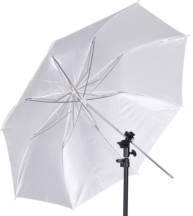 Complete Speedlite Modifier Kit - The Umbrella Flash Kit includes an adjustable and tiltable bracket that mounts virtually any speedlite and umbrella instantly. This bracket attaches to the included 8' light stand for quick flash modification.