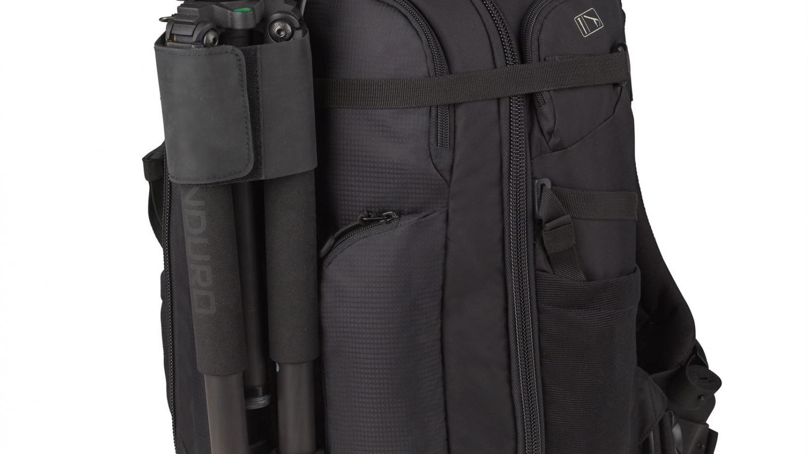 FITS A MONOPOD OR COMPACT TRIPOD. - Safely and securely transport your favorite compact tripod or monopod as you travel.