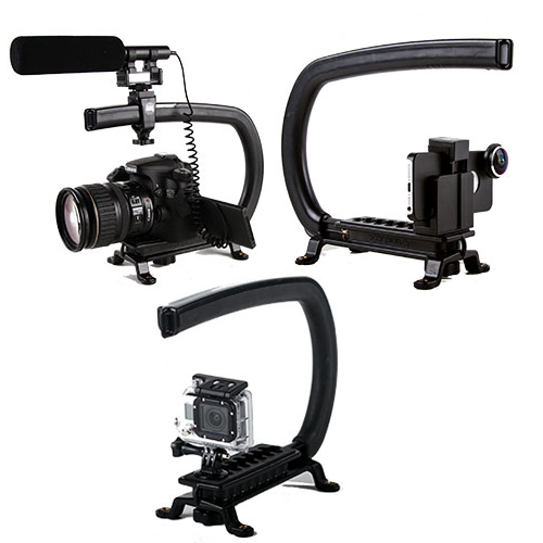 Fits Virtually Any Camera - The Scorpion is an extremely versatile Handheld Camera Stabilizer & Accessory Support Rig. This universal design will work with virtually any camera, whether it's a: DSLR, Video Camera, or Point & Shoot. You can even use it with a Smartphone, iPhone, or the GoPro Hero. Go Pro Mount Included.