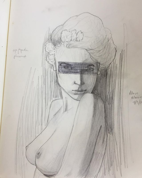 """Screenshot_2019-06-08 Chayce Halley on Instagram """"Another of muse mercier in my sketchbook The eyes were a travesty Thank y[...].png"""