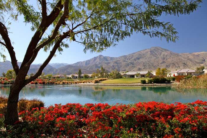 Golf course homes at Trilogy La Quinta