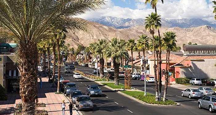 Palm Desert's El Paseo shopping district