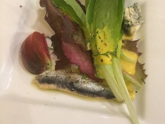 A salad course for the Beyond Balisage preview dinner.(Photo: Jose Bastidas/The Desert Sun)