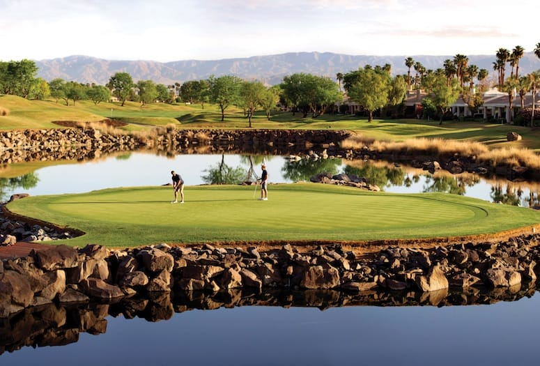 The 17th hole at PGA West is touted by pros as being among the sport's most diabolical.   PHOTOGRAPH COURTESY PGA WEST