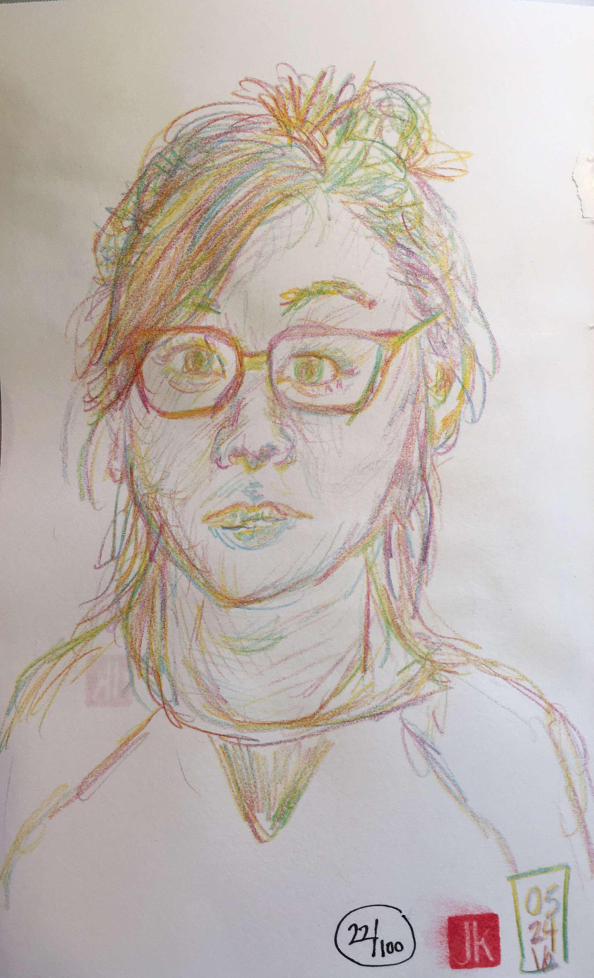 22/100 - Self-Portrait