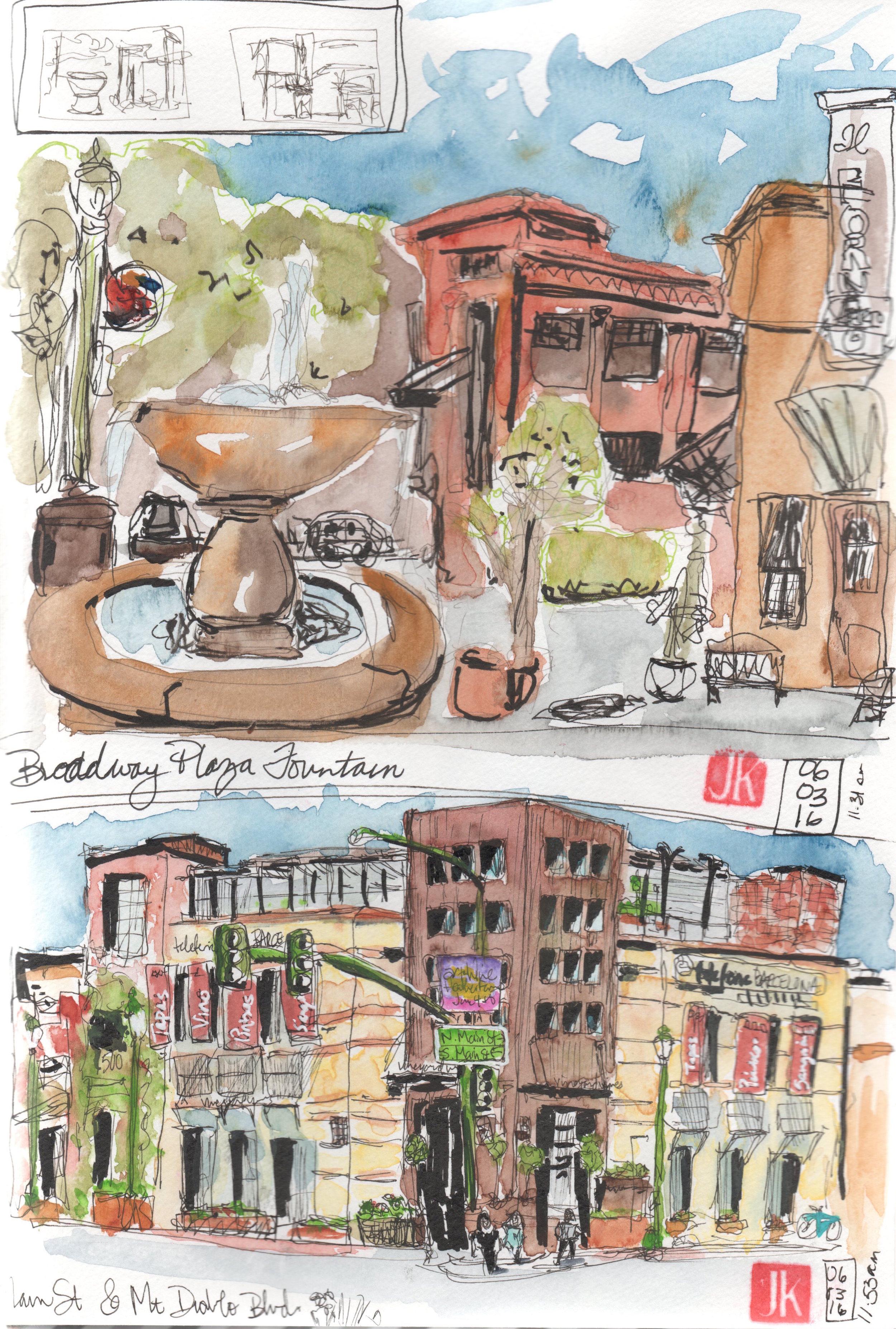 Liberty Bell Plaza -- Main St.& Mt. Diablo Blvd.
