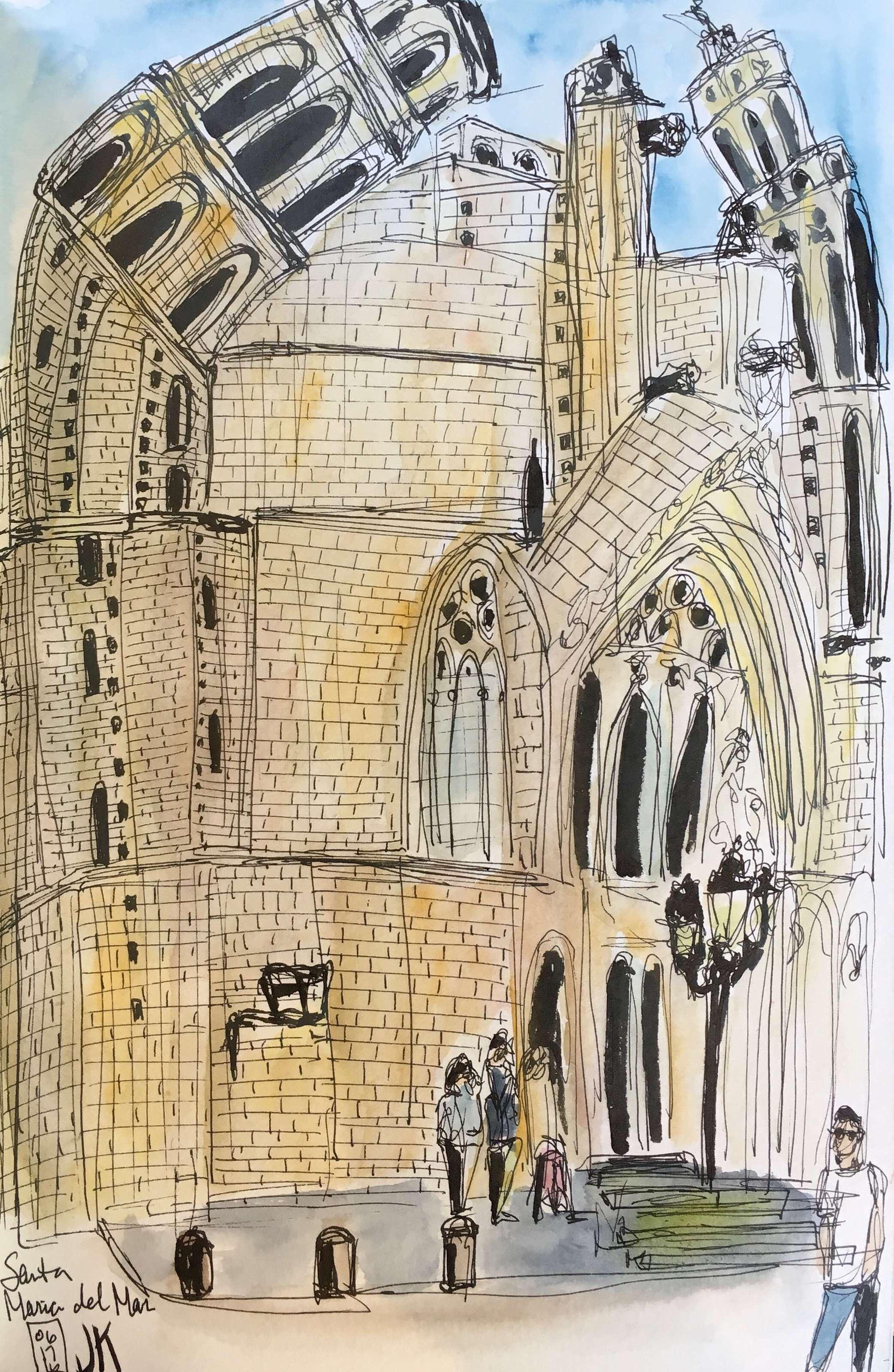 Church of Santa Maria del Mar in Born, Barcelona