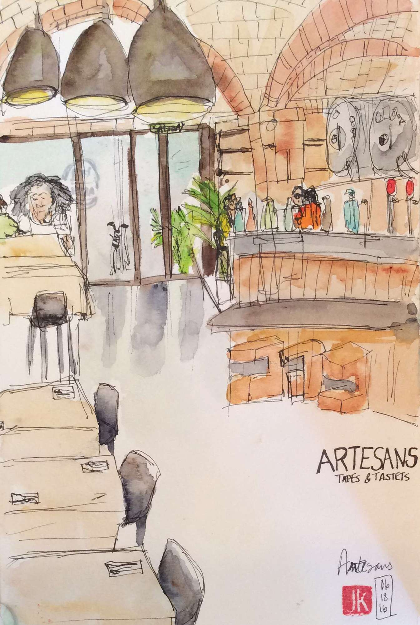 Our last meal in Barcelona - tapas at Artesans in El Born