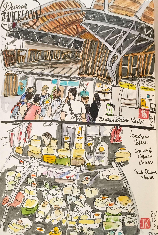 First stops in Santa Caterina Market