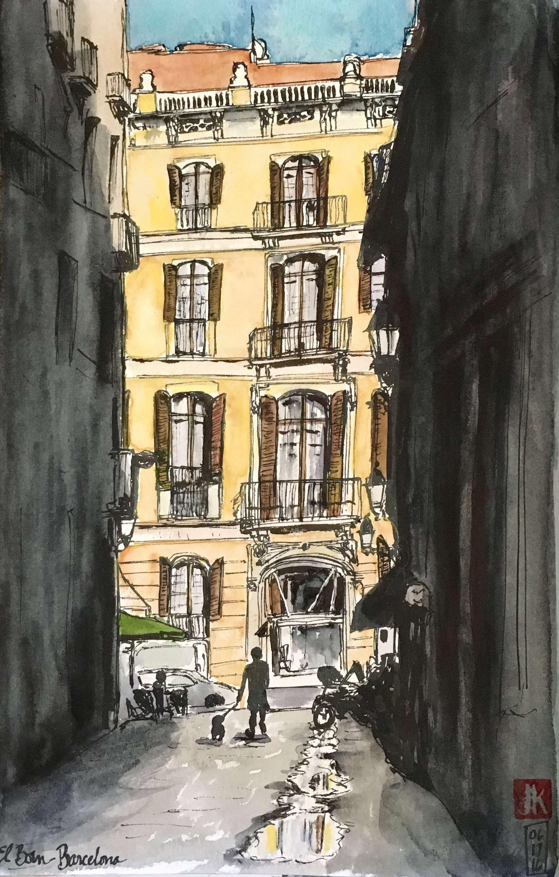 A street in Él Born, Barcelona