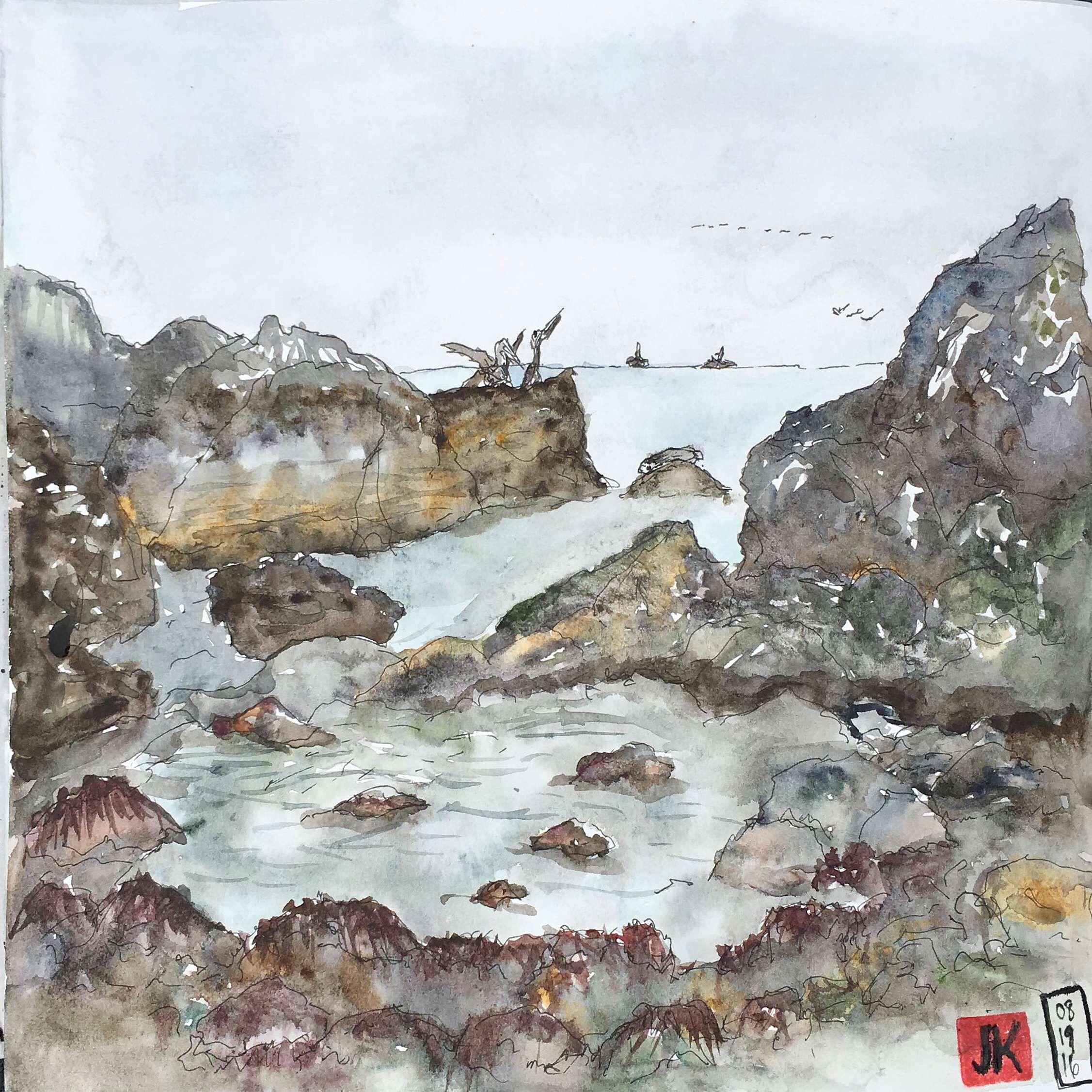 My tide pool sketch
