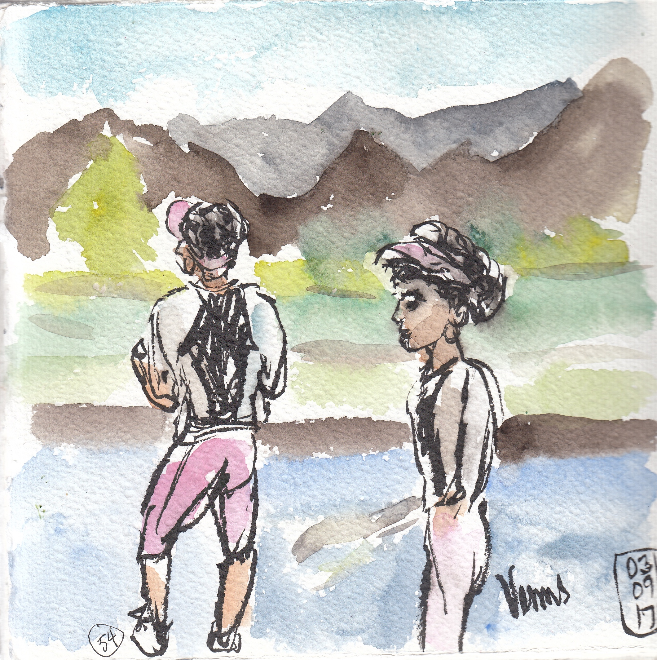 No. 54 - Venus Williams practicing