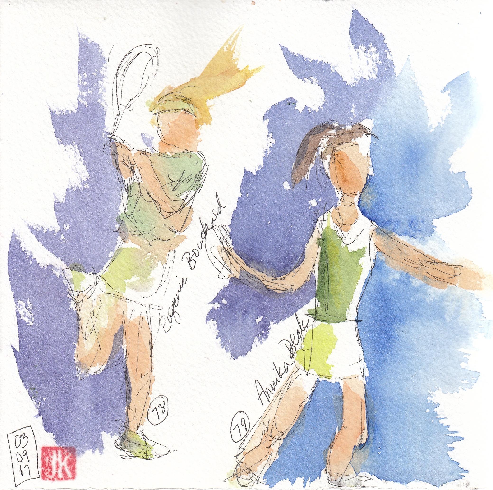 Nos. 78 & 79 - Eugenie Bouchard & Annika Beck
