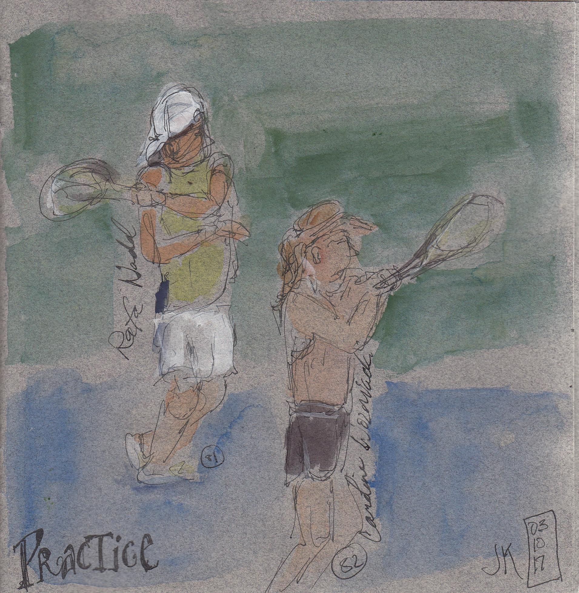 Nos. 81 & 82 - Rafa Nadal & Caroline Wozniacki practicing