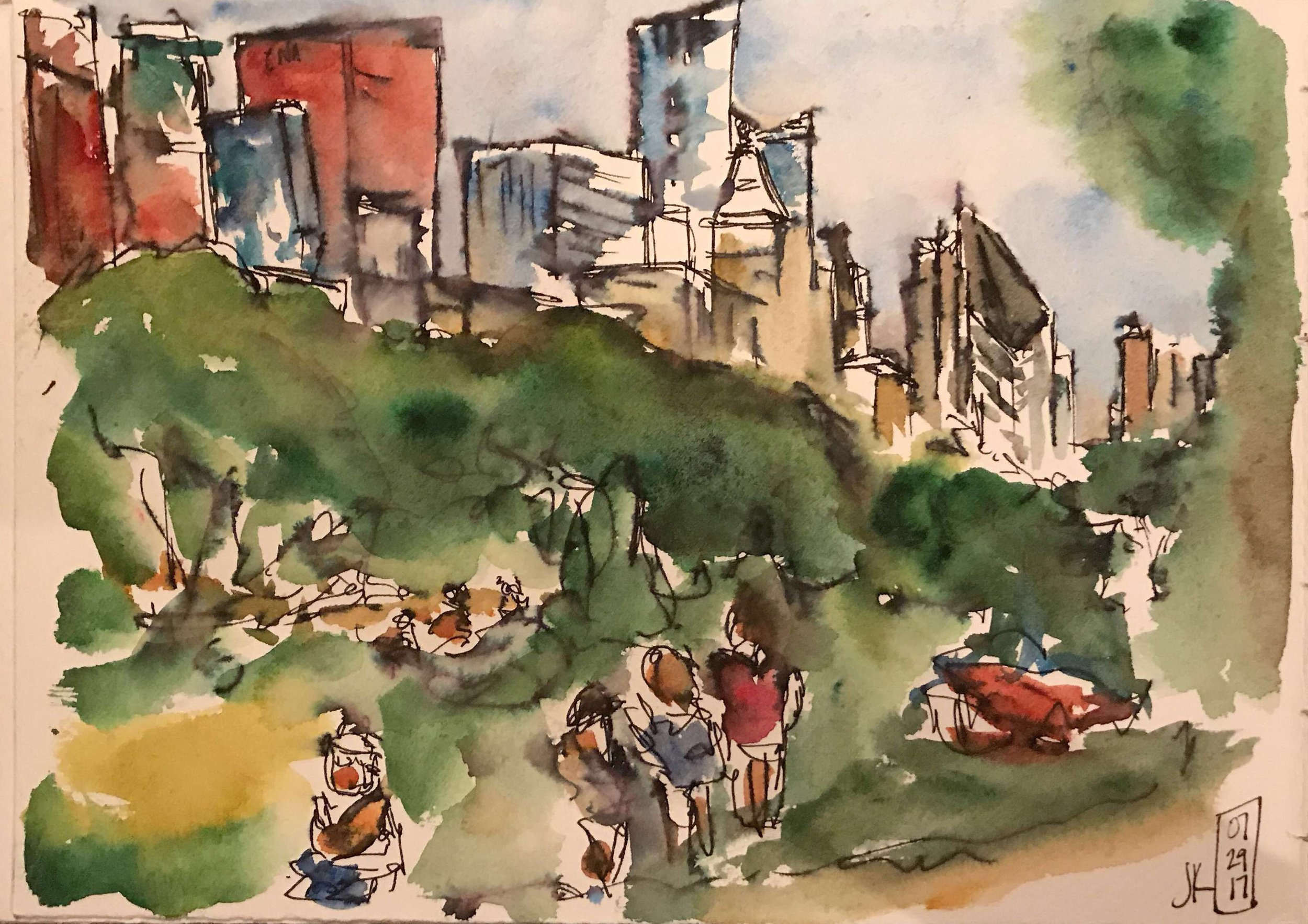 Our last sketch crawl - this sketch was done in 15 minutes
