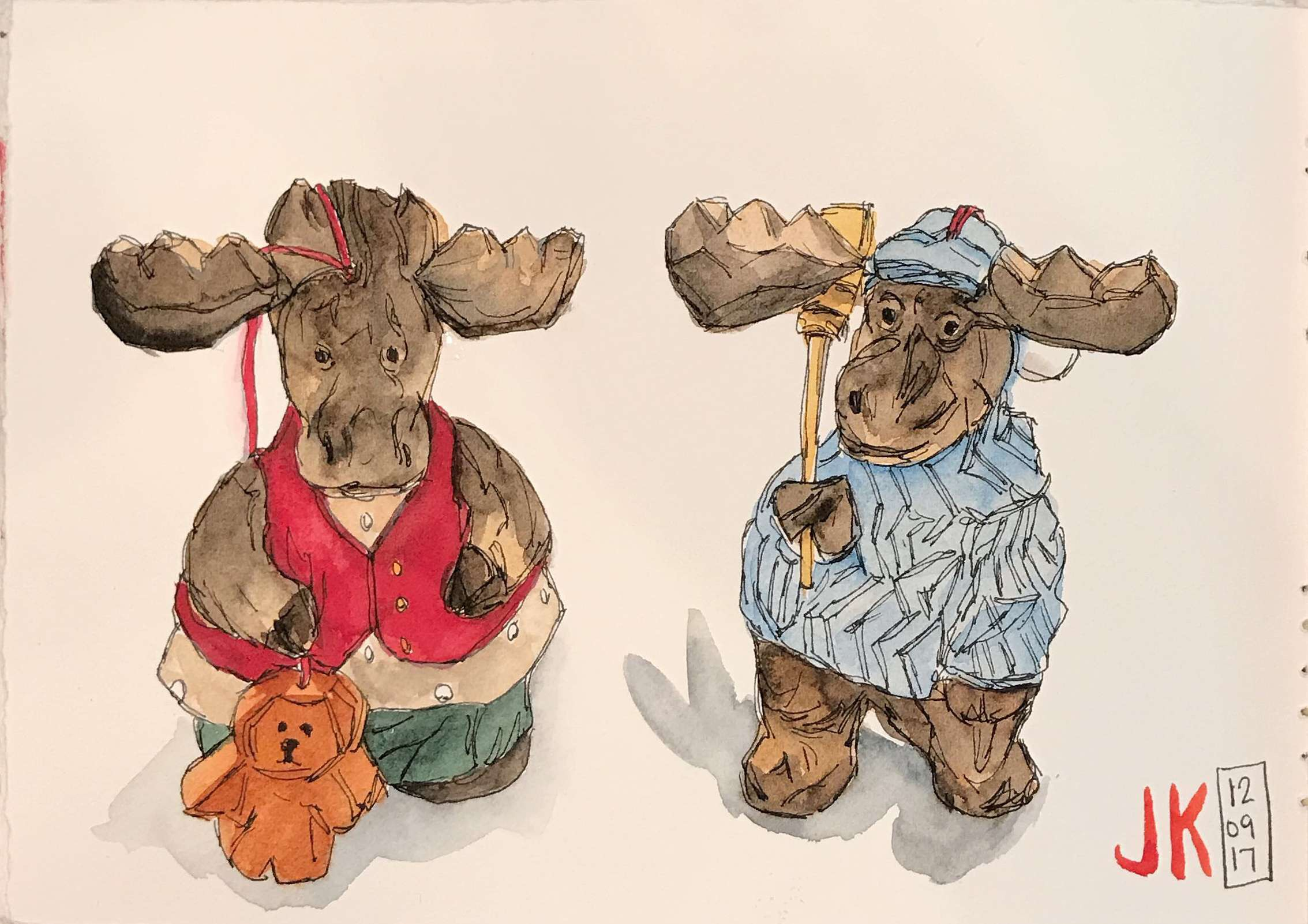 More moose ornaments