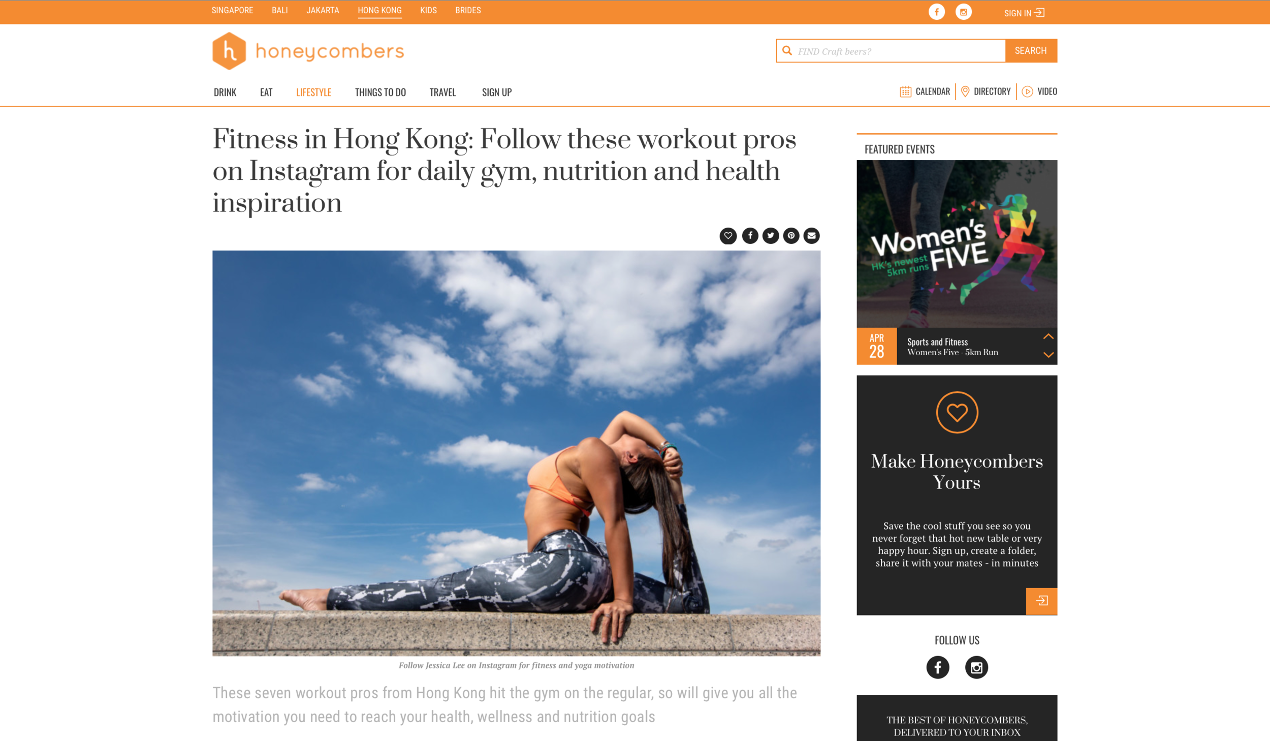 Fitness in Hong Kong - The Honeycombers
