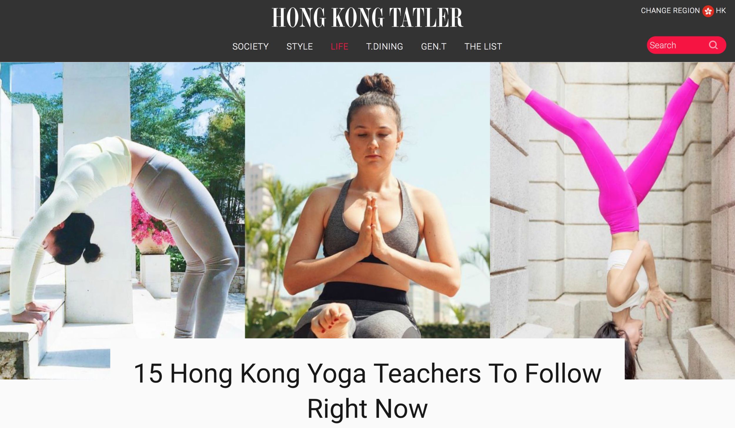 15 Hong Kong Yoga Teachers To Follow Right Now - Hong Kong Tatler