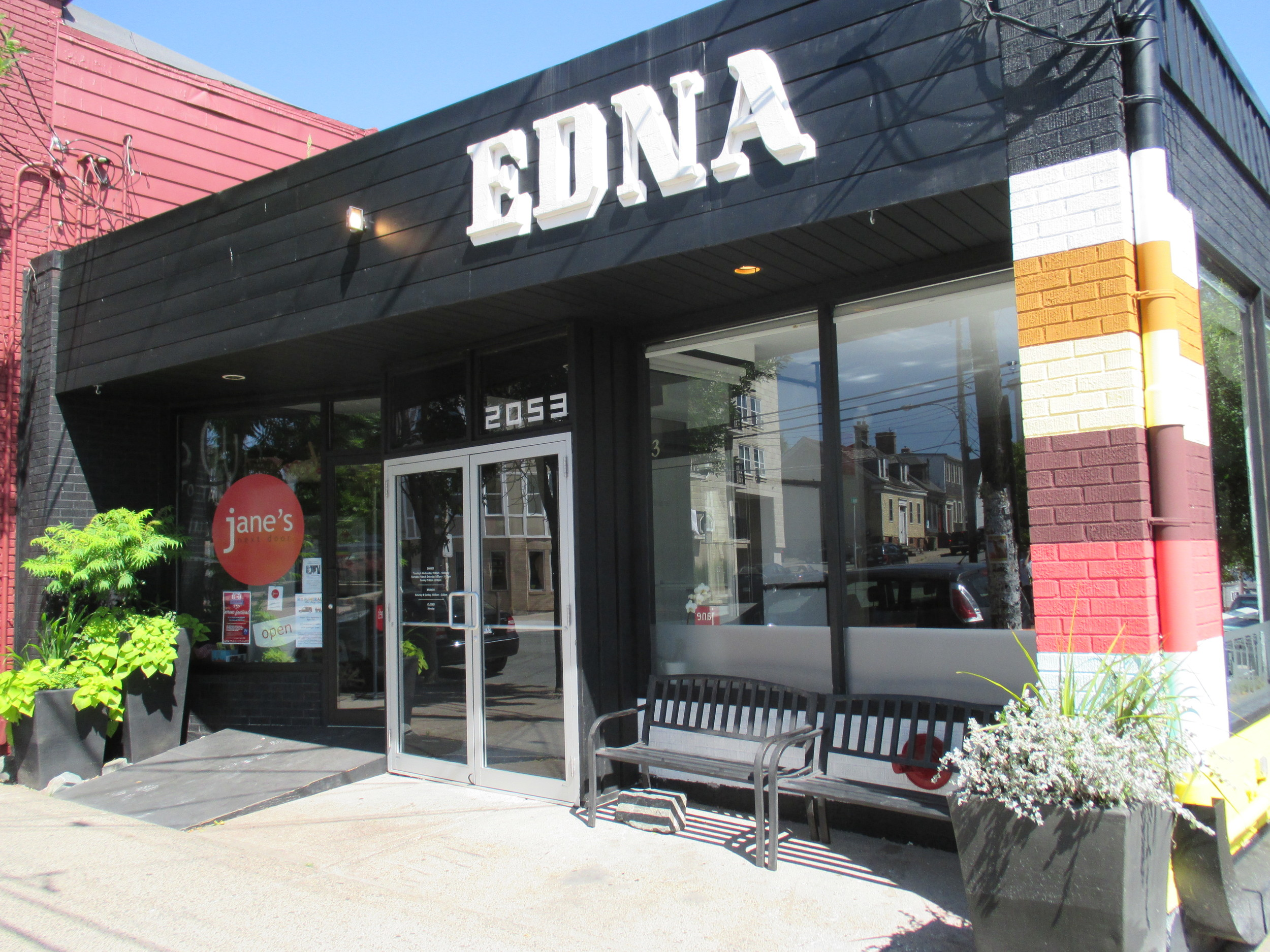 Jane & Edna - Commercial Planters — OUTSIDE!