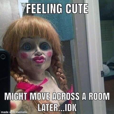 Here's a little morning humor. That Annabelle is a little diva 😆😂😱👻. What is your favorite horror movie? I've enjoyed the Evil Dead series, Conjuring, The Shining, New IT movie, Insidious, and Freddy still gives me nightmares. As someone who's very sensitive, I have to be cautious of watching violent movies. #justinchasemullins #successquotes #inspirationalquotes #yoga #discoverychannel #paranormal #horror #ghost