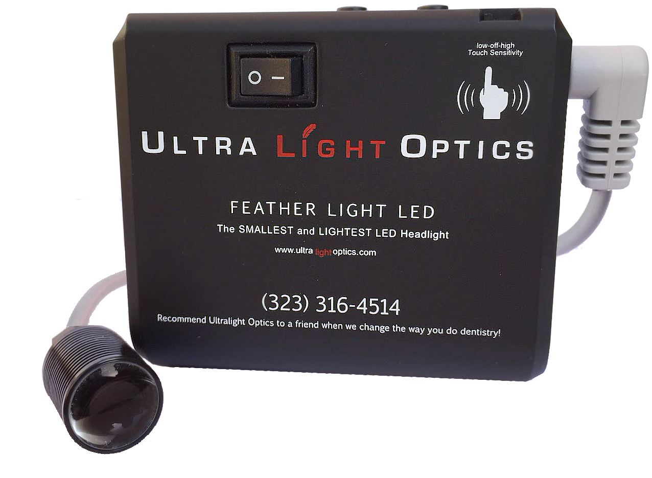 Feather Lite advanced touch battery by Ultra Light Optics UK