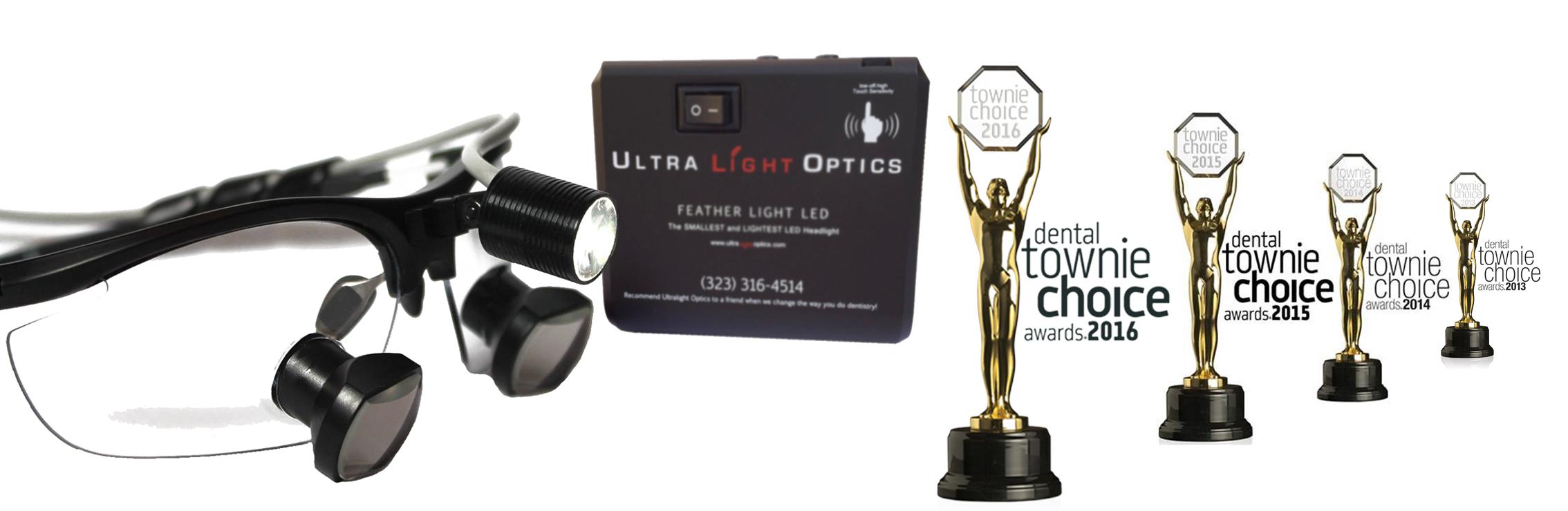 Feather Light by Ultra Light Optics dental loupes light