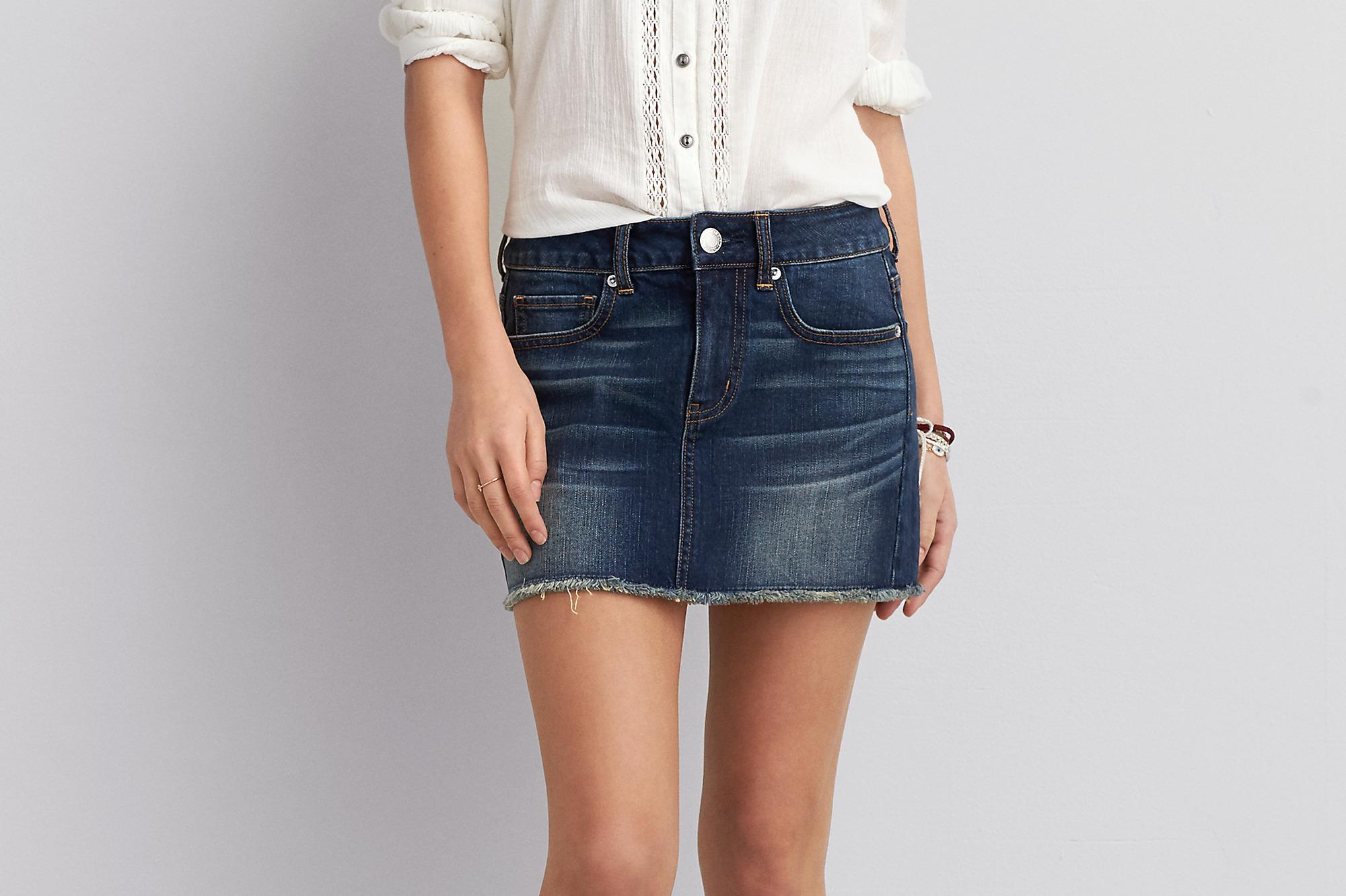 AEO Denim Mini Skirt