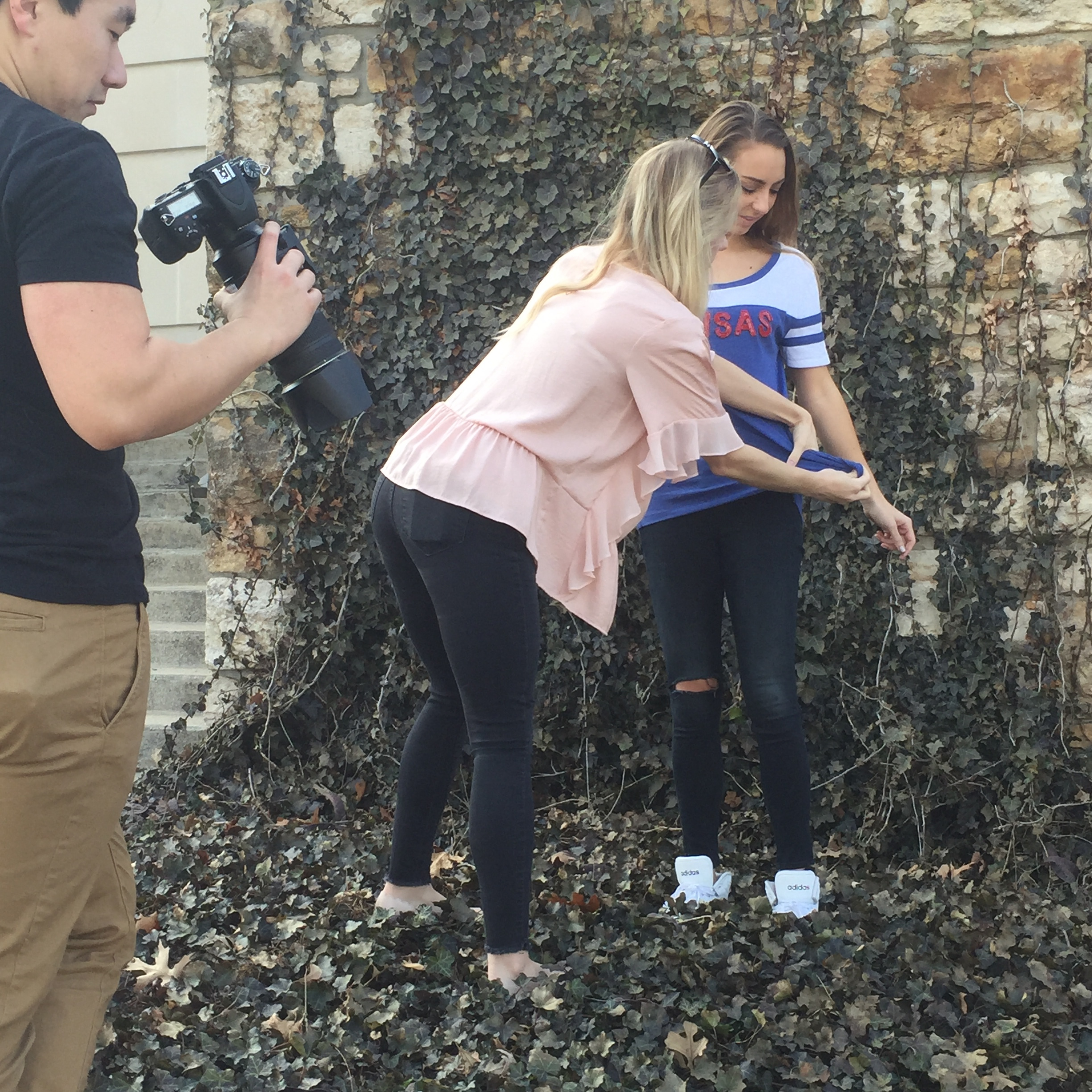 Behind the scenes:  Shop the Locale  photo shoot