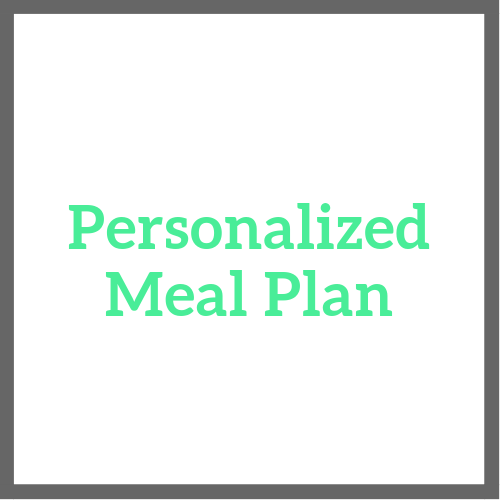 A personalized meal plan is created to achieve your short-term or long-term goals tailored to your likes & dislikes, allergies, and/or medical restrictions Includes:  Several meal & snack selections Easy to follow healthy recipes Pre & post workout snack recommendations Optimal daily water intake Vitamin and supplement suggestions, if appropriate
