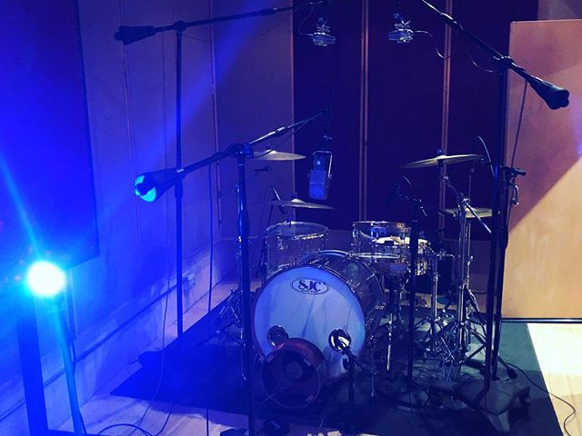 Recording some drums with the great @donbudd! Stay tuned for more updates