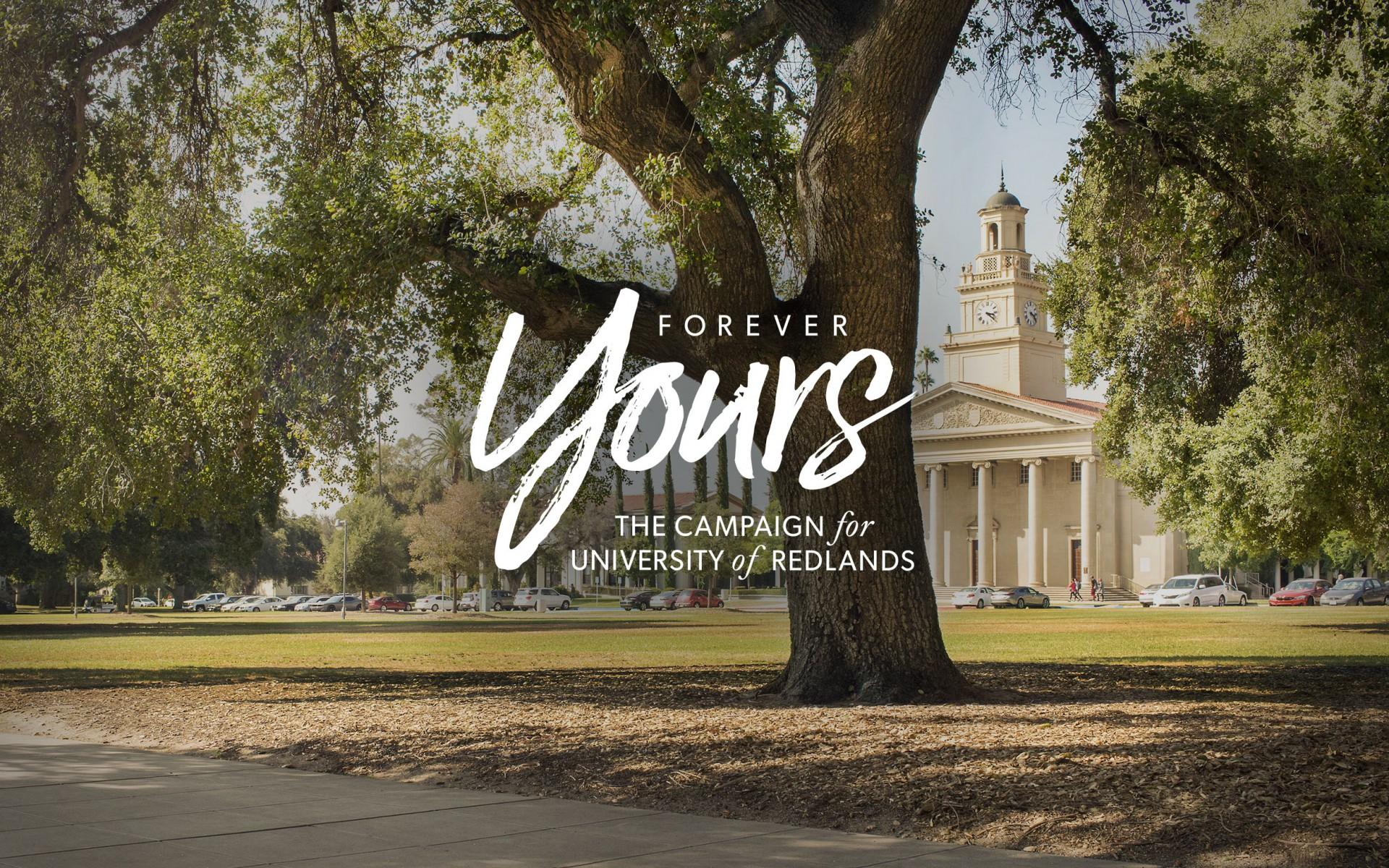 University of Redlands Forever Yours Campaign Logo