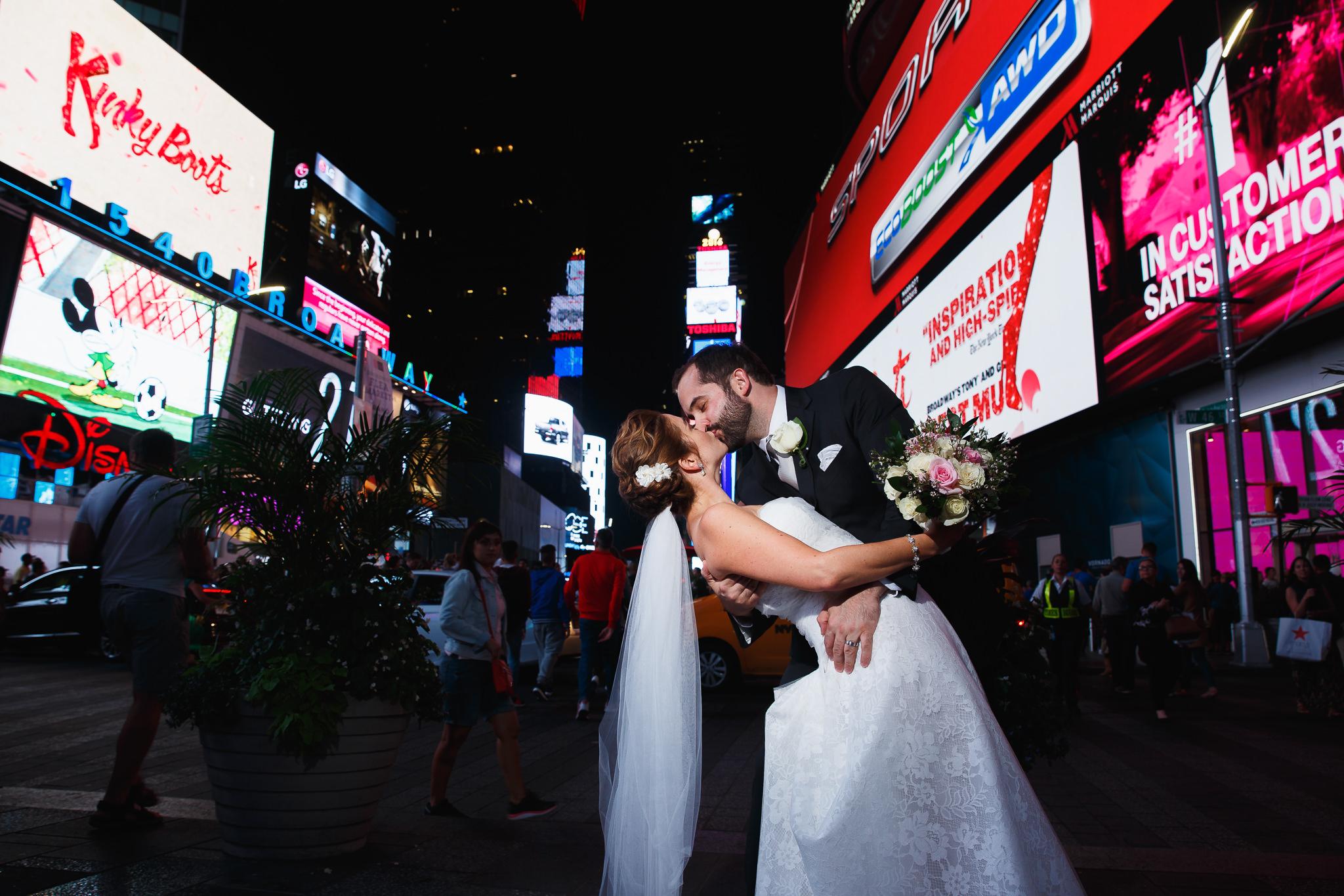 Times Square Wedding, Sarah Bode-Clark Photography, New York City Wedding Photographer