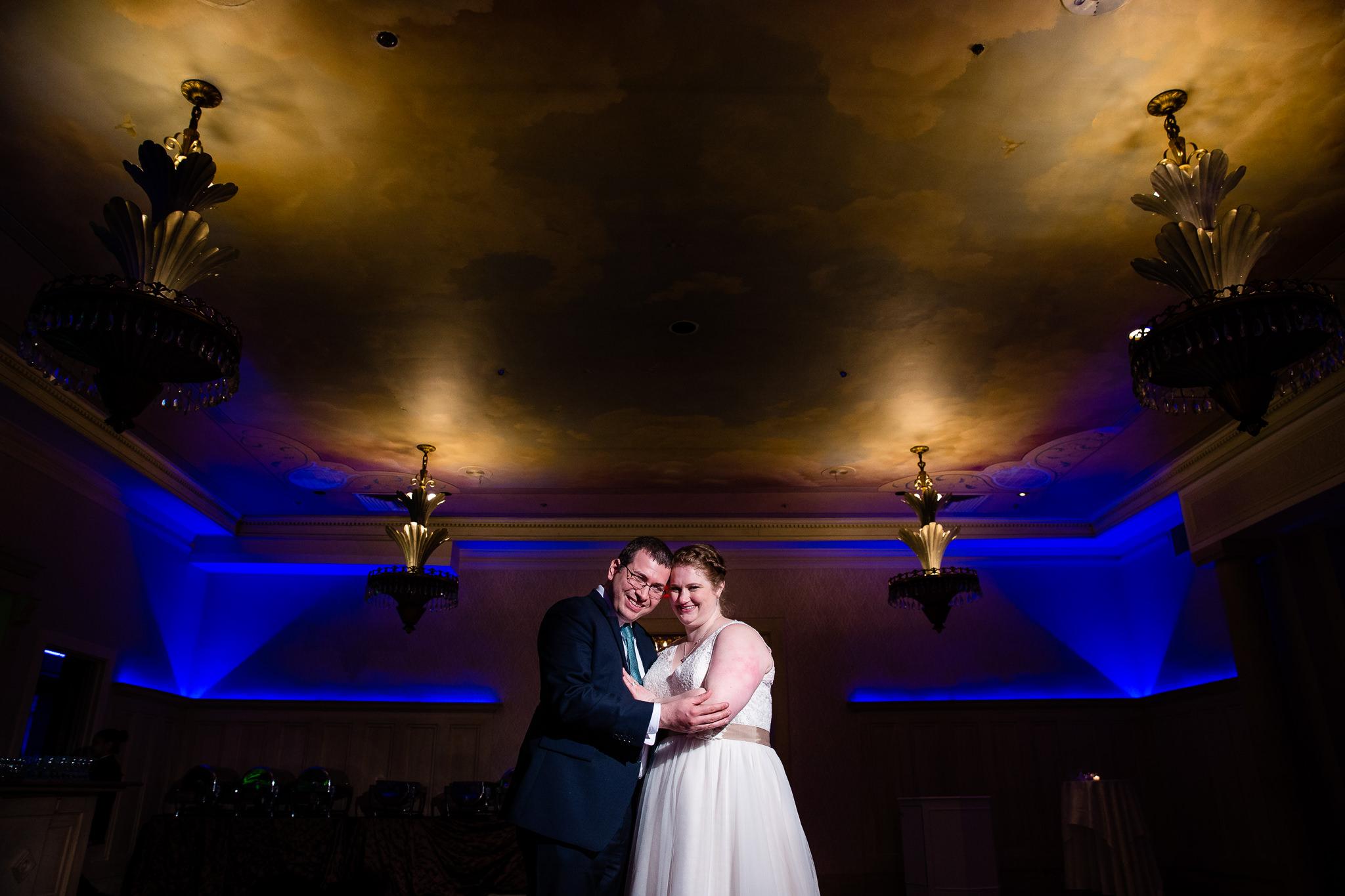 bride and groom portrait terrace on the park wedding queens new york