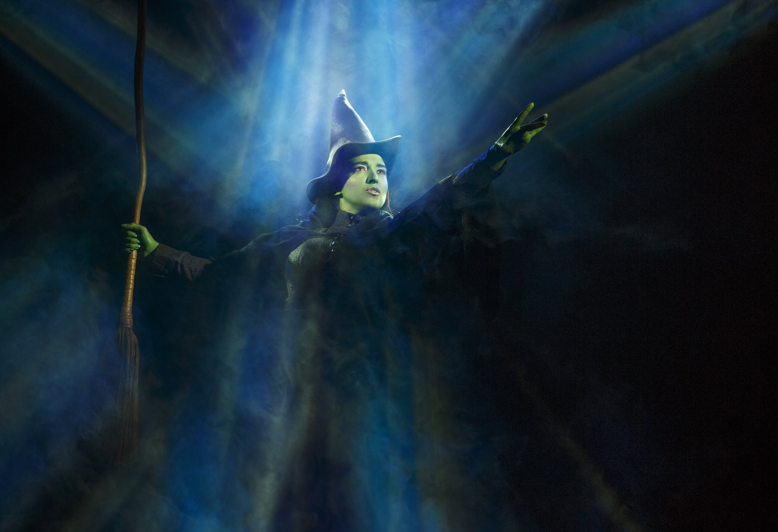 Jessica Vosk as Elphaba in Defying Gravity. Photo by Joan Marcus..jpg