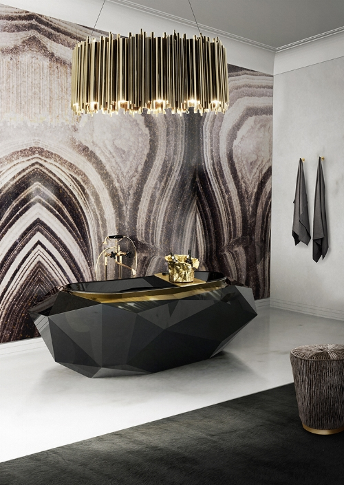 Originally saw this absolutely STUNNING piece at the  Maison Valentina  booth at Decorex last month, but since we'd have to remortgage our house to come anywhere near owning one we tried to forget about it.... but after too many cocktails last weekend we succumbed to a Google Image search urge, and once again fell in love with the  Diamond Bathtub . It ticks every box for us- Geometry! Black and Gold! Luxury! Completely Over The Top and Ridiculous!
