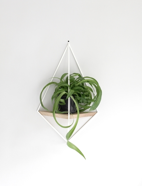 """Running out of fireplace/ windowsill/ sideboard/ tabletop/floor space for your botanical obsessions? Well, we are... so these wall hanging solutions are a dream come true. Coming in black and white, both from  The Maker Place , these will look fantastic as a nice """"living wall""""arrangement in our monochrome kitchen... just hope we can keep the plants alive long enough to get a great Instagram pic!"""