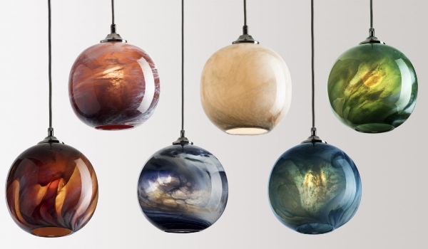 Our obsession with lighting continues (will it ever end??) with these breathtakingly gorgeous pendant lights made from handblown glass,  which replicate the intricacies of marble, with a sci-fi / organic twist. With the announcement of Pantone's Greenery as their colour of the year 2017, we saw this pendant feature in a full Colour Block summaries.