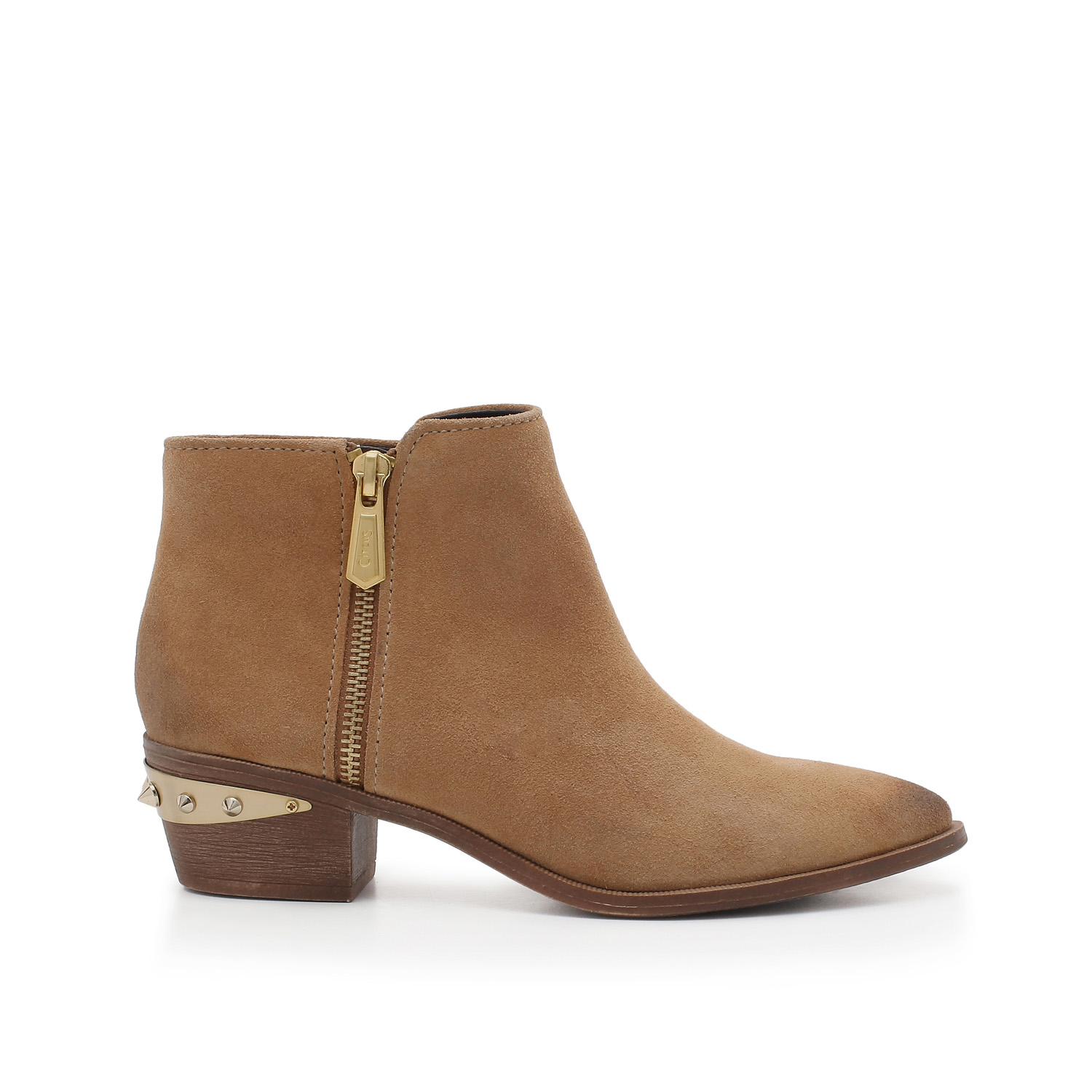 Sam Edelman brown bootie product photography