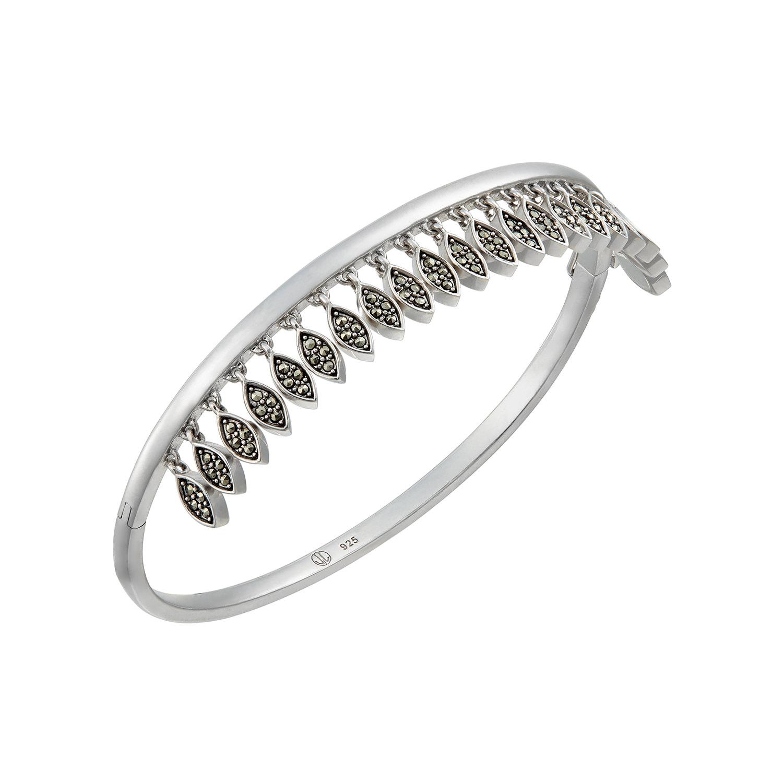Jan Leslie silver leaves bangle bracelet