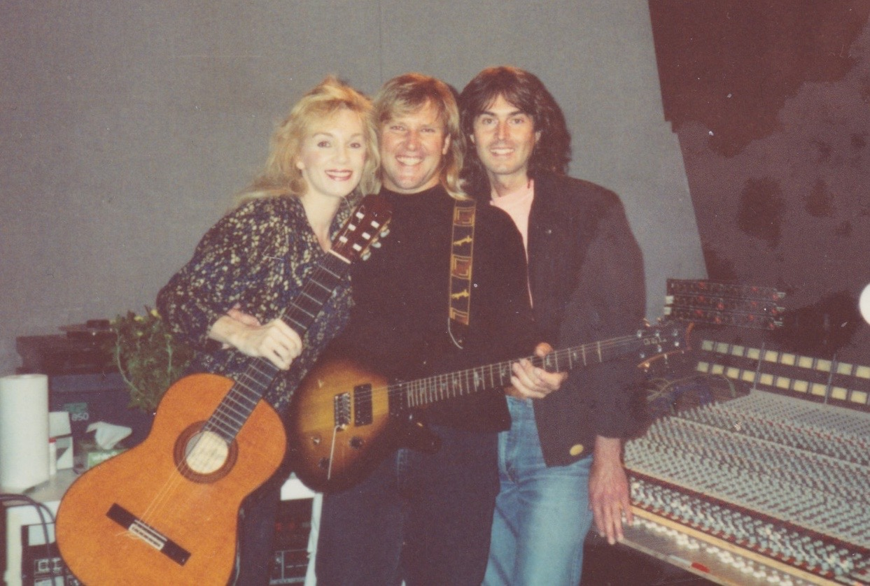 1987 with Alex Lifeson of Rush and Richard Fortin
