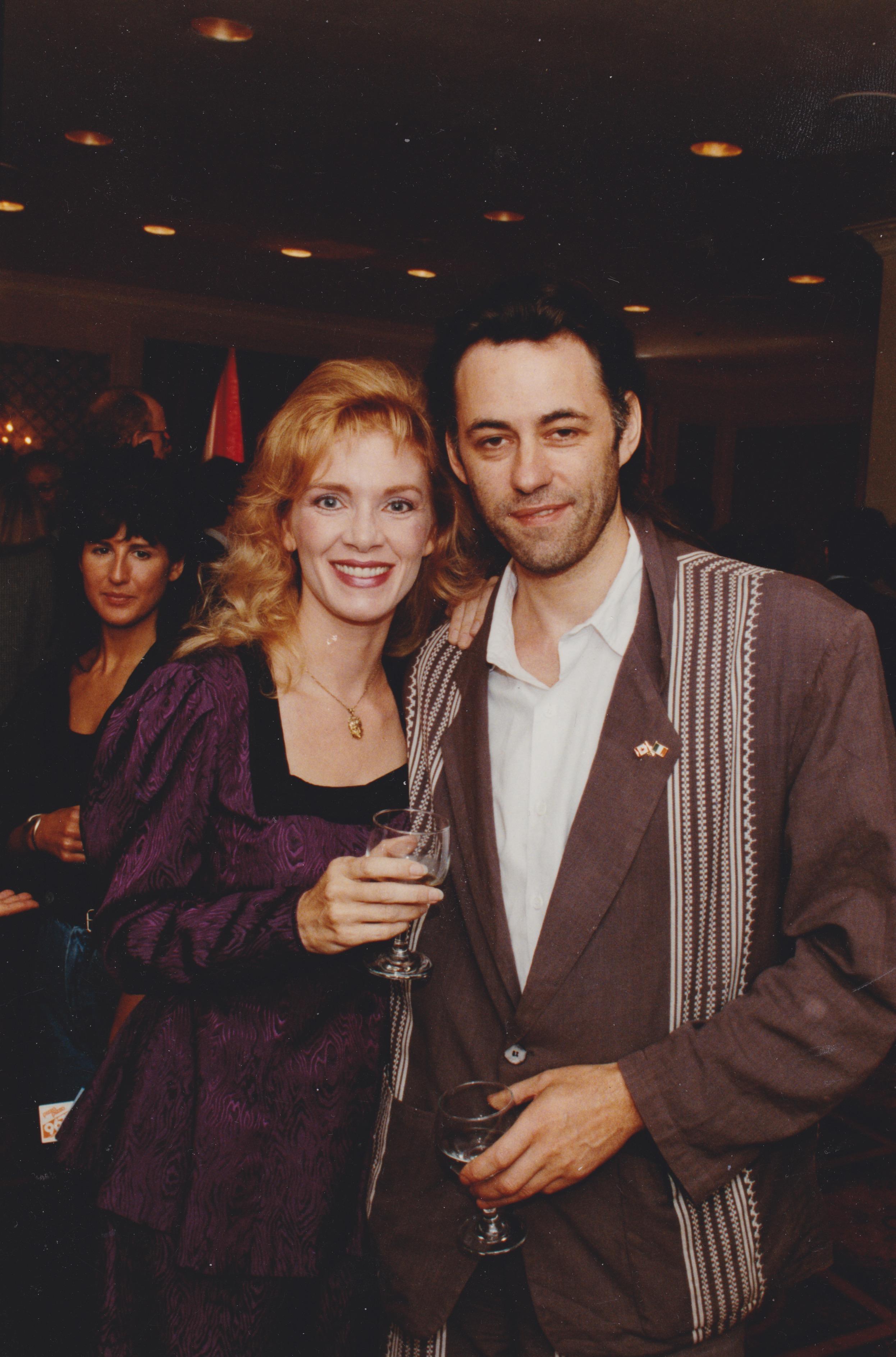 1987 with Bob Geldof