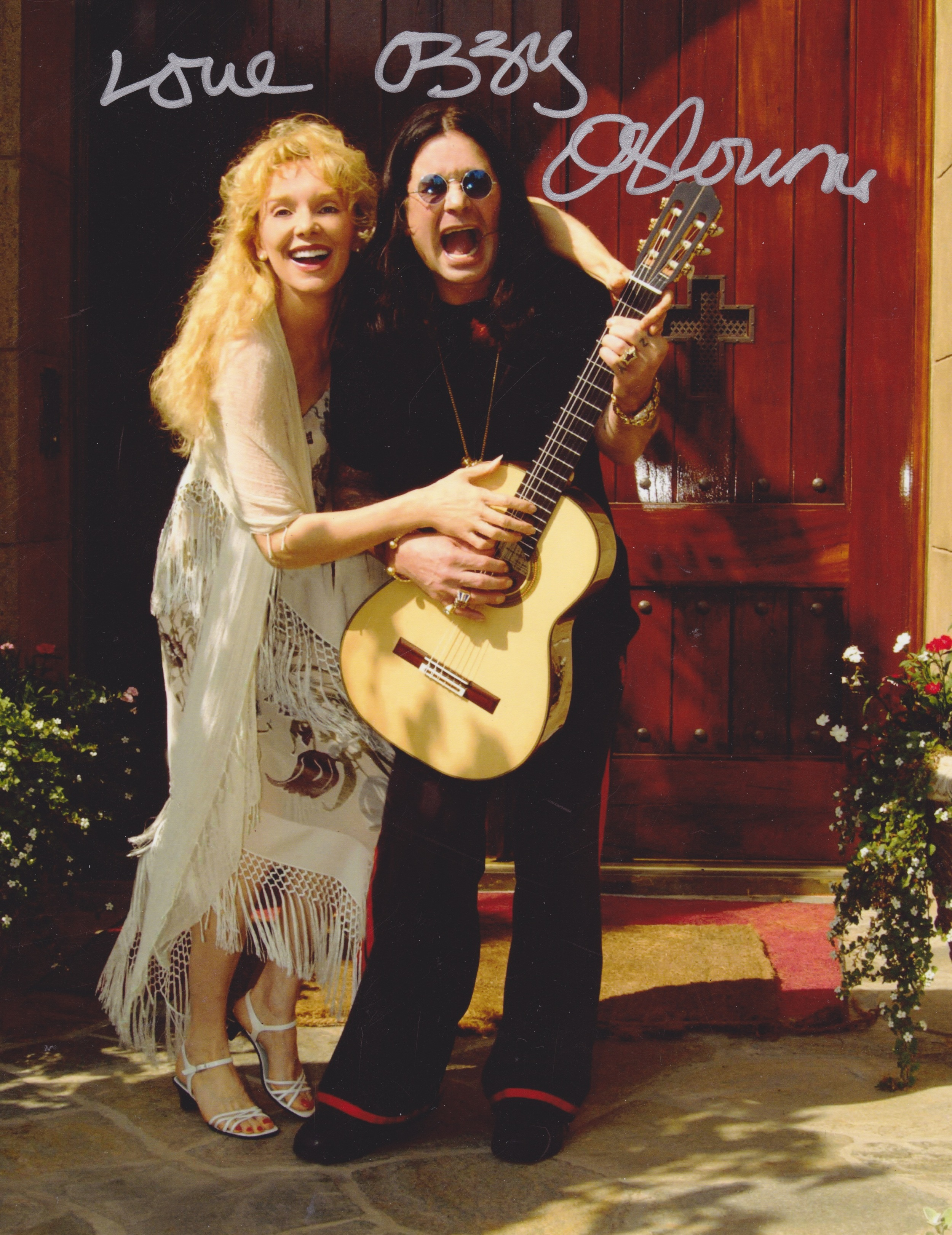 2002 with Beverly Hills neighbour, Ozzy Osbourne